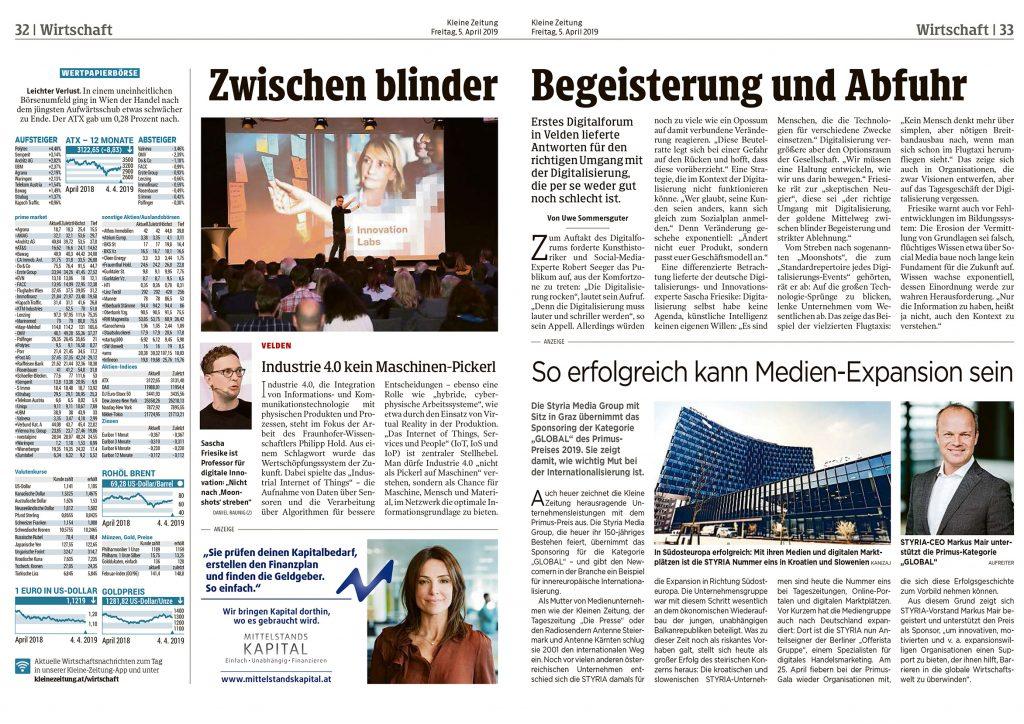 Presse Digital Forum Konferenz Für Digitalisierung